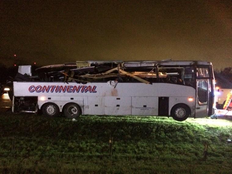Image: Photo from the I-40 bus crash