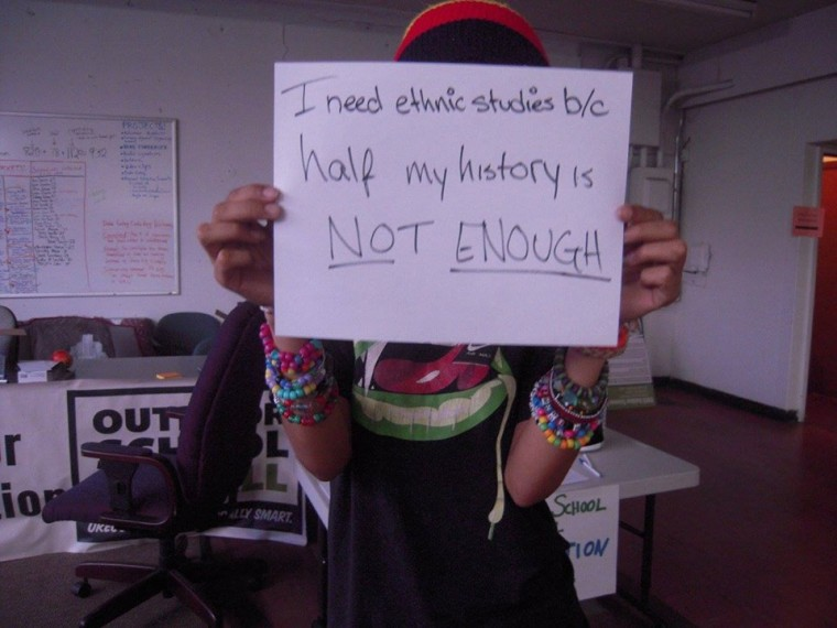 """""""I need ethnic studies because…"""" from Asian Pacific American Network of Oregon (APANO) Asian Pacific Islander Leaders for the Liberation of Youth (ALLY) """"Missing Pages of our History"""" Ethnic Studies Campaign Kick-off event"""