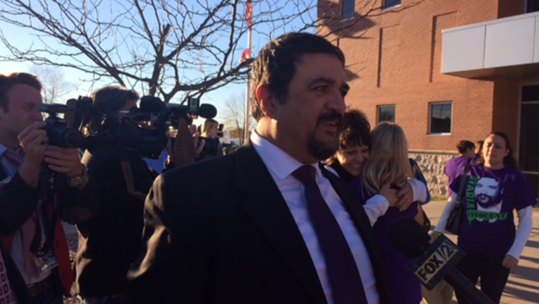 Russ Faria outside the courthouse after a judge acquitted him of his wife 2011 murder.
