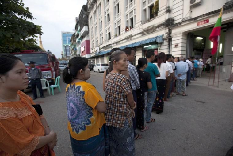 Image: Myanmar vote