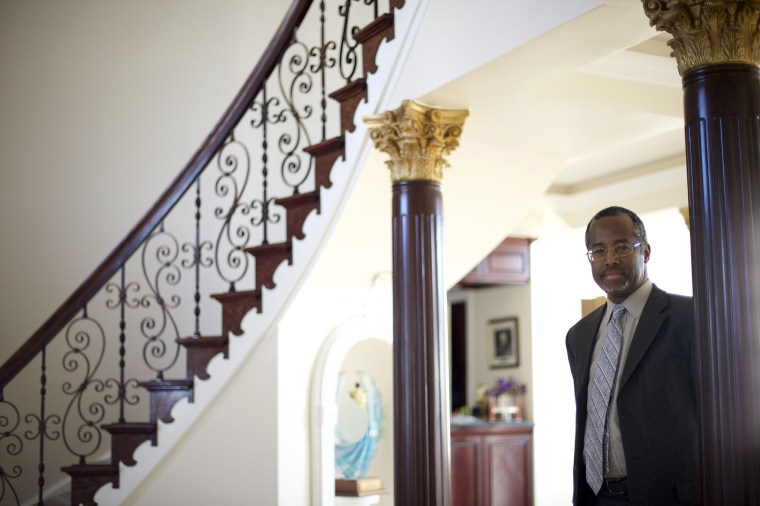 Dr. Benjamin Carson poses at his residence in Upperco, Maryland on Nov. 27, 2014.