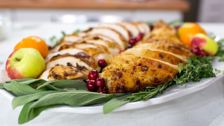 Chef Curtis Stone's recipes for Thanksgiving turkey, gravy, and cranberry sauce