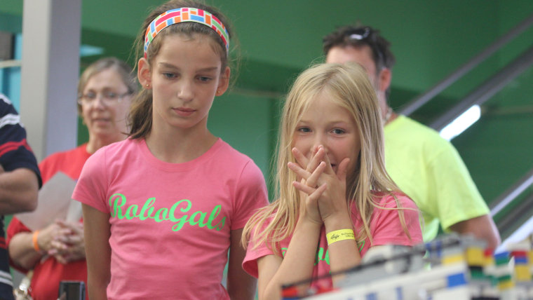 Kaiya Hollister and Jensie Coonradt will compete in the World Robot Olympiad