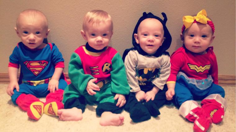 Babies Alyssa, Carter, Miles and Bentley