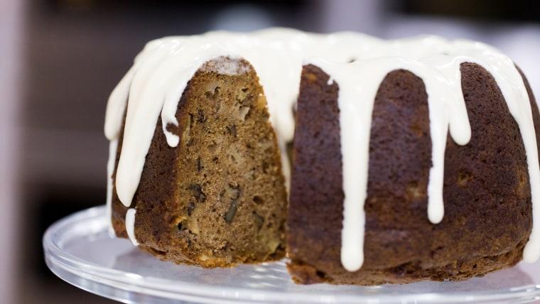 Giada de Laurentiis's recipe for spiced apple walnut cake