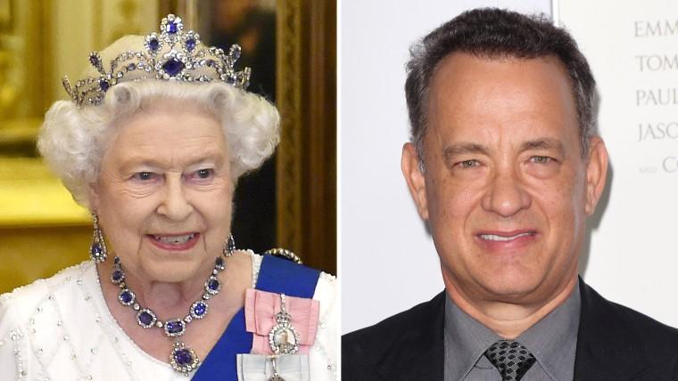 Queen Elizabeth and Tom Hanks