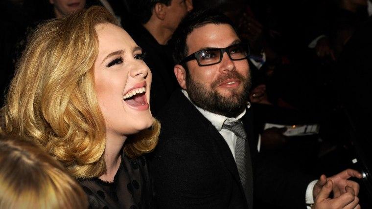 Adele and her boyfriend Simon Konecki