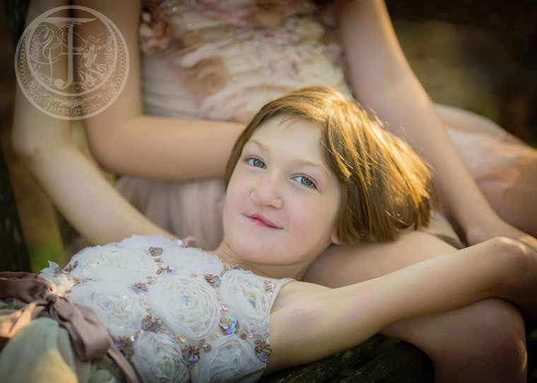 """""""Hannah was born with a severe, partial midline cleft lip and palate. We later found out that her cleft was caused by a rare brain disorder called holoprosenceplaly,"""" said Heather Matthews of her 8-year-old daughter."""