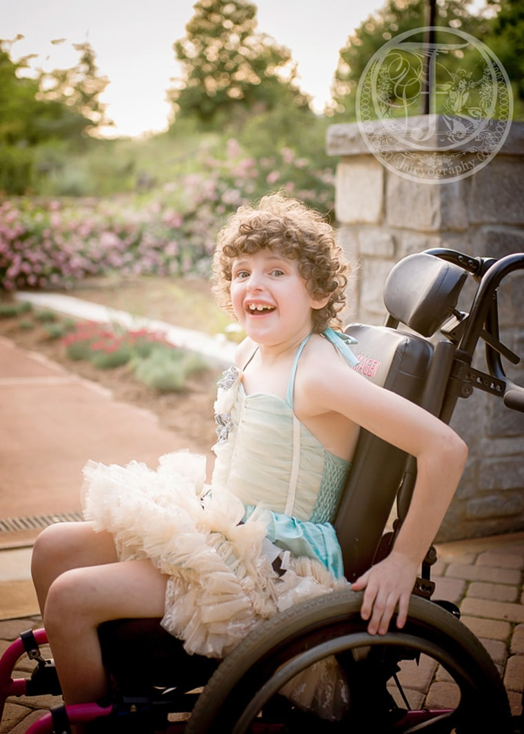 Magen Ferland, 12, was born with an extremely rare chromosomal condition, and has been diagnosed with cerebral palsy, autism, sensory processing disorder and nonverbal seizures.