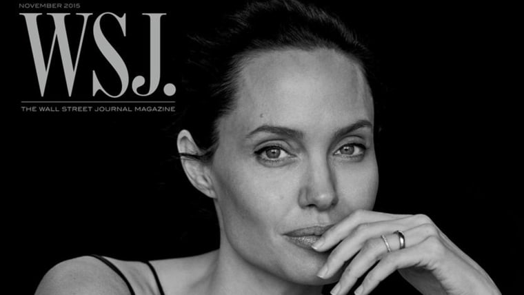Actress and activist Angelina Jolie poses for the cover of Wall Street Journal Magazine