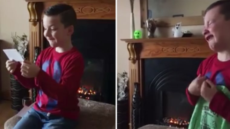Jake Dooley, 6, finds out he's going to be a big brother in a video that has gone viral