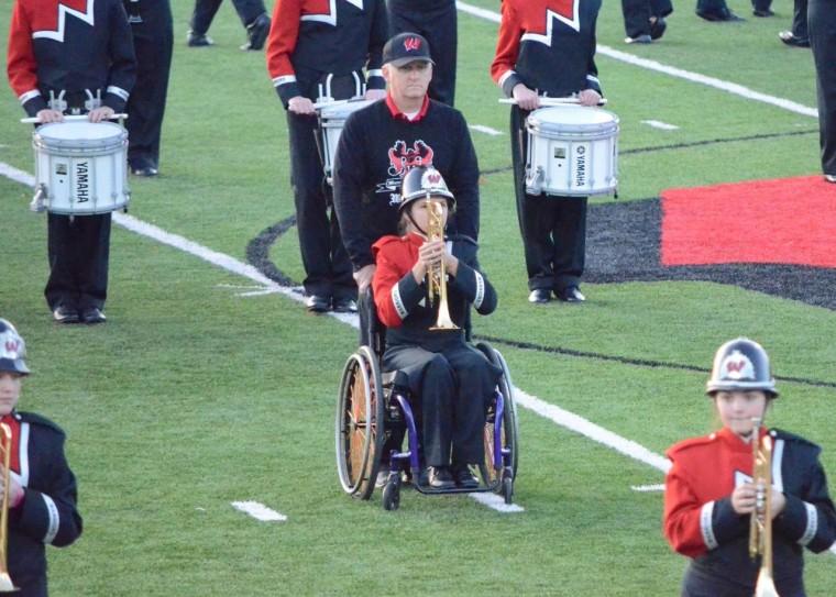 trumpet dad wheelchair