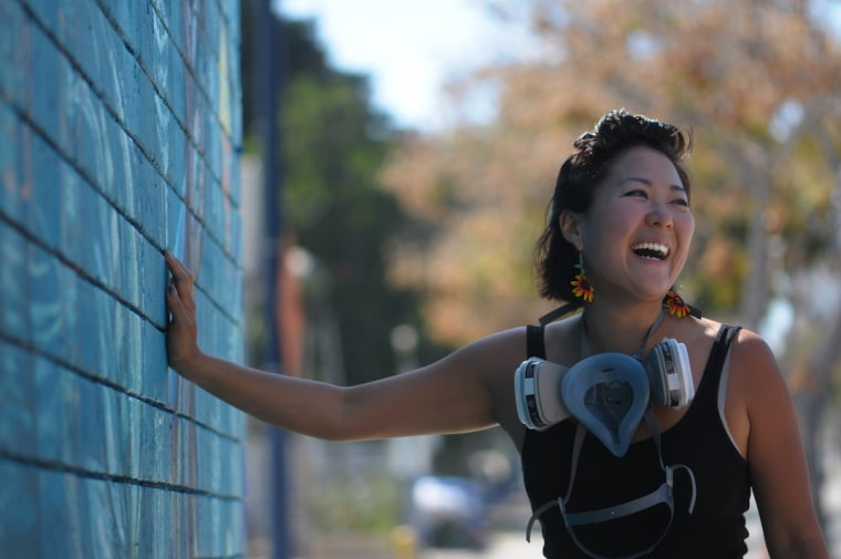 Erin Yoshi is one of the lead artists for the Mural Muses project by the Asian American Women Artists Association.