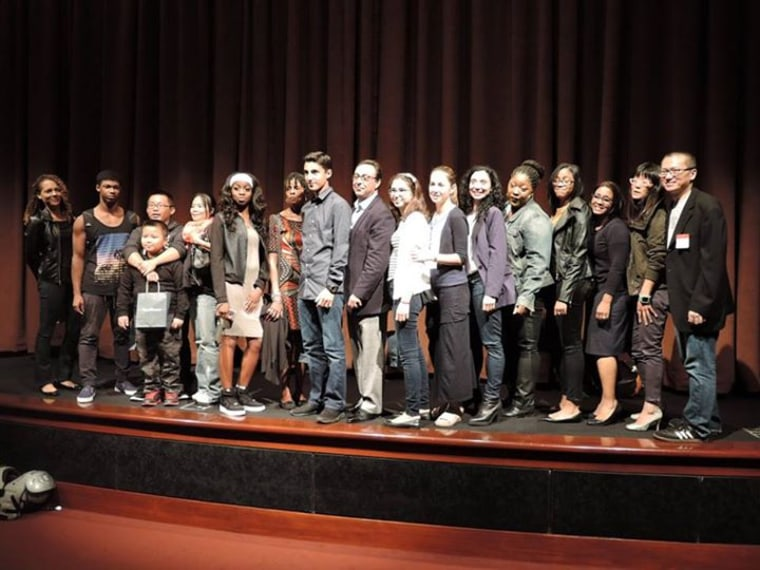 "The cast of Curtis Chin's new documentary film ""Tested,"" at a special cast and crew screening of the film."