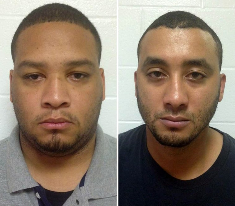 Law enforcement officer Derrick Stafford, left, and Norris Greenhouse, Jr. have been arrested on charges of murder and attempted murder over the fatal shooting of a six-year-old boy in Louisiana, officials said.