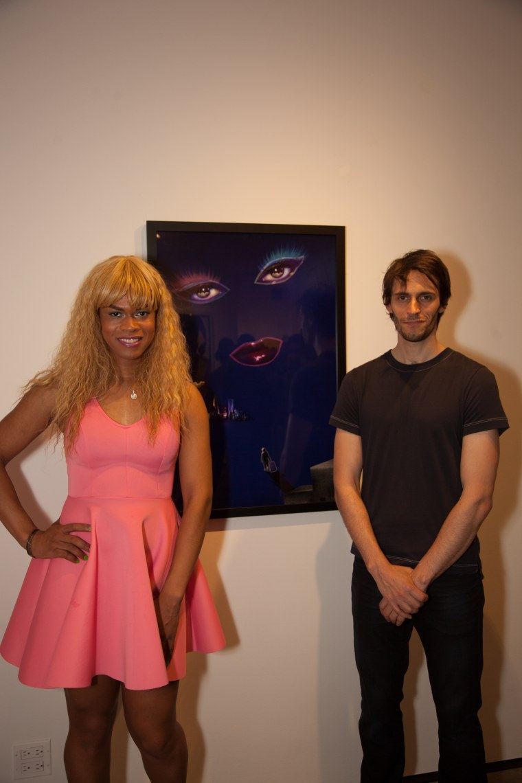 Artists Andre St. Clair and Tavet Gillson Nicholas drew for ArtConnects in New York.