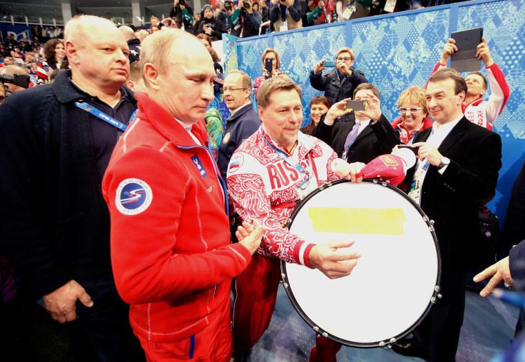 Image: Vladimir Putin during the Sochi Olympics