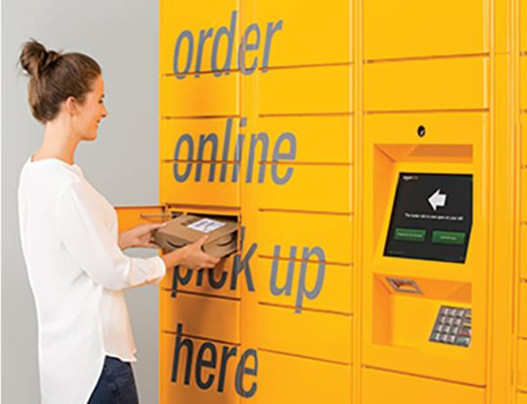 Photo: An Amazon package locker.