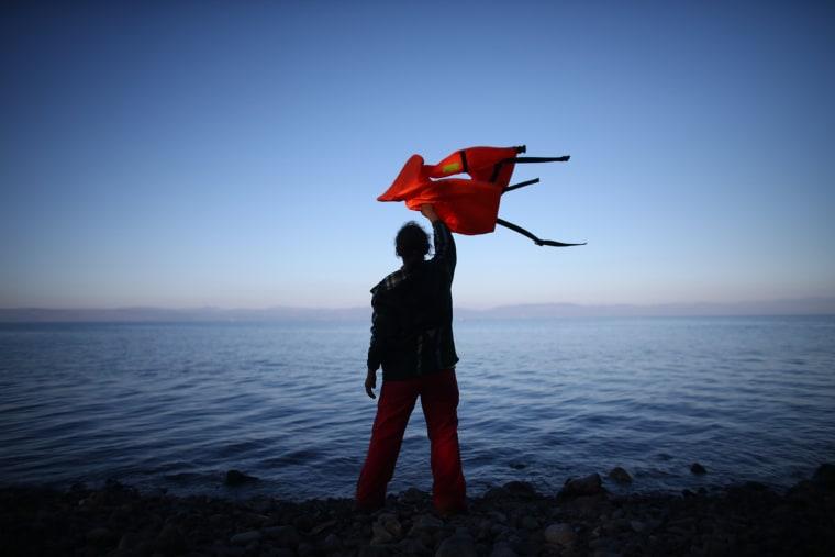 Image: BESTPIX Migrants On Greece's Lesbos Island
