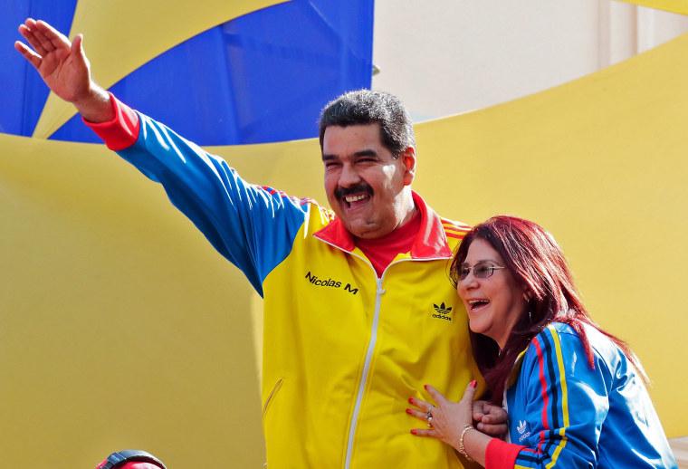 Image: VENEZUELA-COLOMBIA-BORDER-MADURO