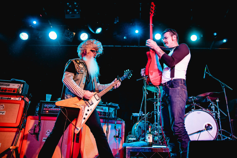 Eagles of Death Metal in concert in Britain on Oct. 31.