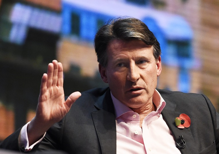 Image: IAAF President Lord Sebastian Coe in London