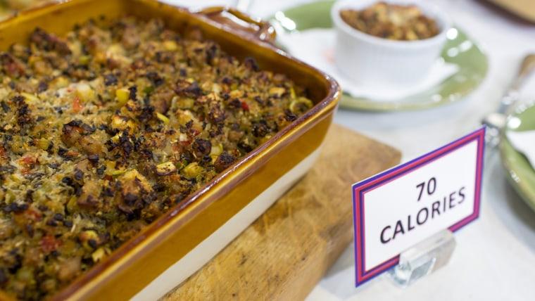 Joy Bauer's low-calorie sausage-apple stuffing and pumpkin pie lattes