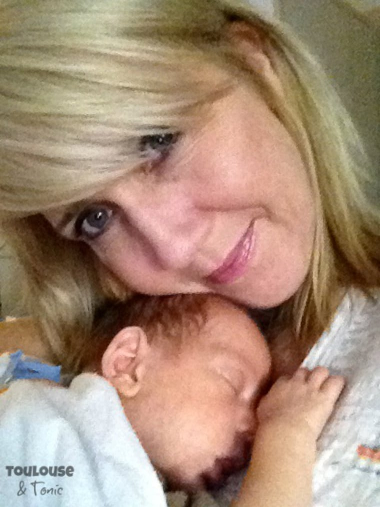 Suzanne Fleet's baby was born at 29 weeks.