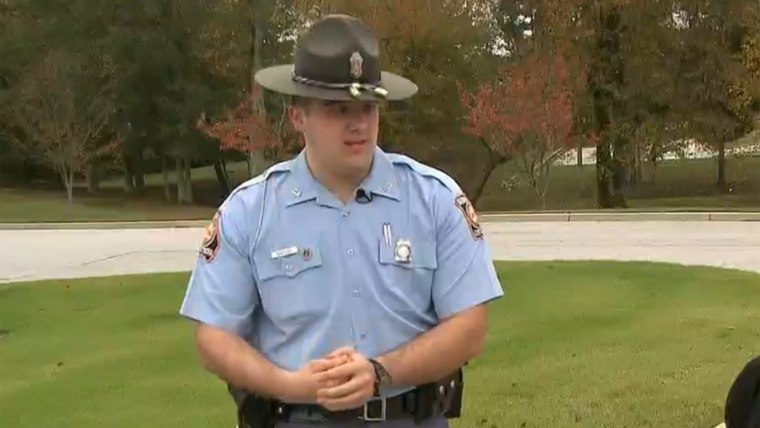Trooper Nathan Bradley helped recent orphans after a Halloween tragedy