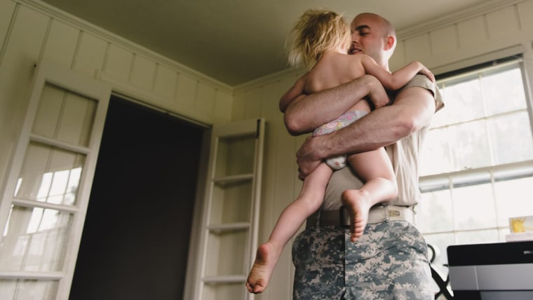 Malcolm Wilkerson deployed to Iraq just ten days after their first son was born. During his second deployment, to Afghanistan, he was gone while his wife was pregnant with their youngest daughter.