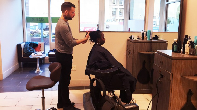 Boston spa/salon, the Green Tangerine, works with a local day shelter to give homeless women free haircuts once a month.