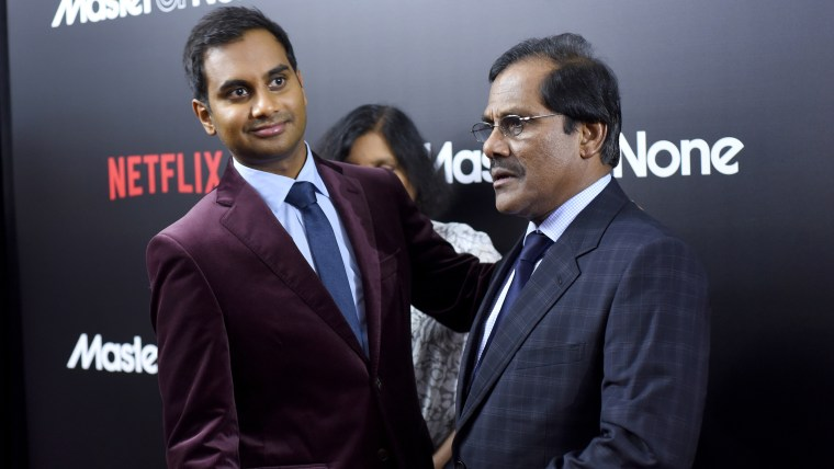 Aziz Ansari and his father Shoukath Ansari