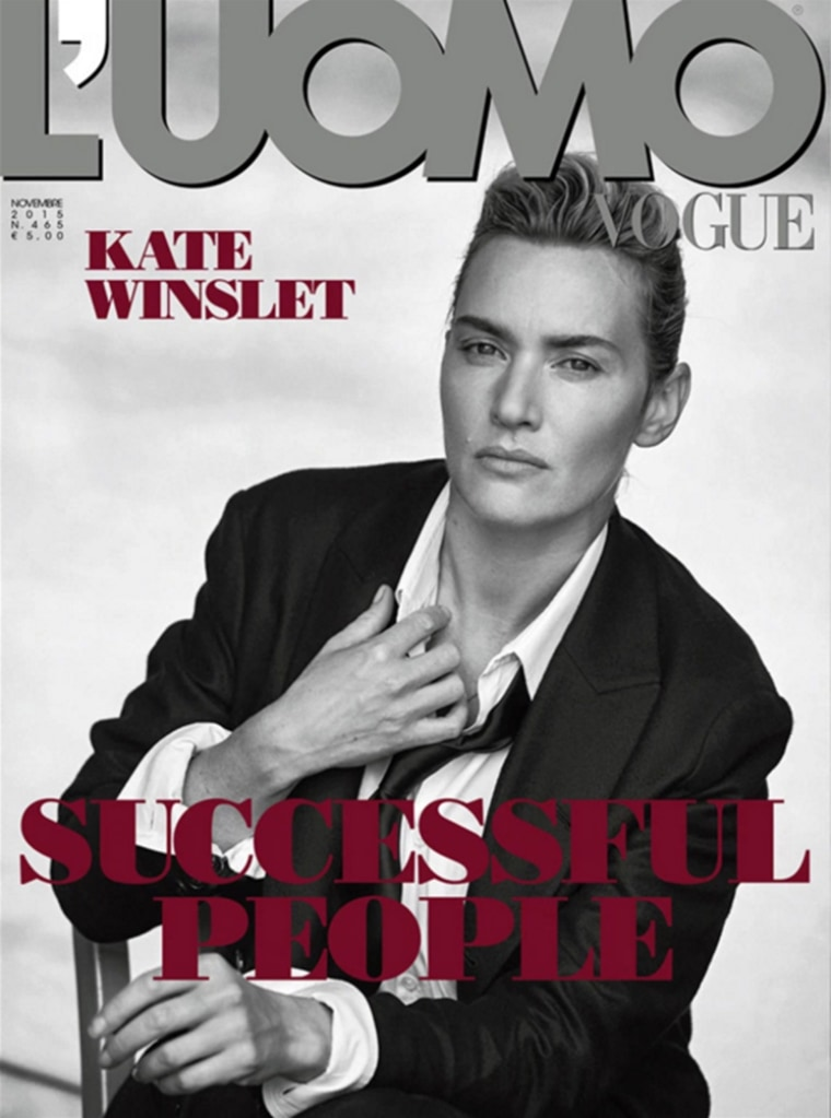 Kate Winslet on the cover of L'Uomo Vogue, looking amazing.