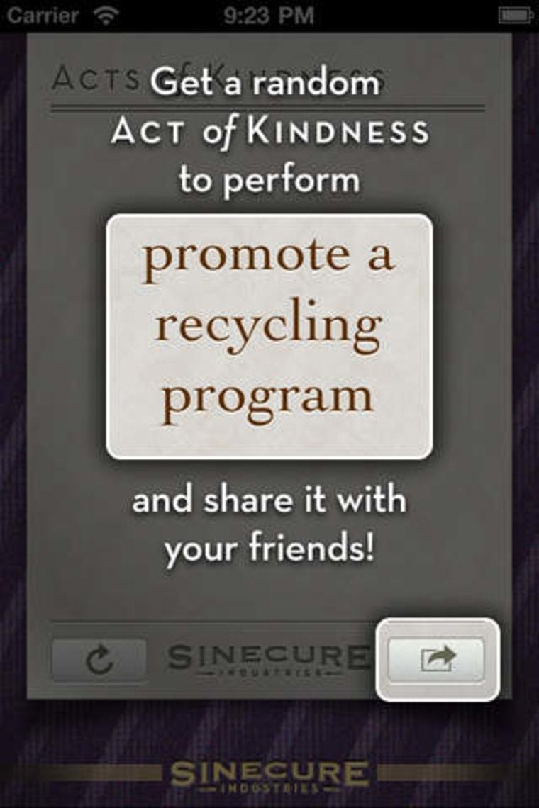 Image: Random Acts of Kindness app
