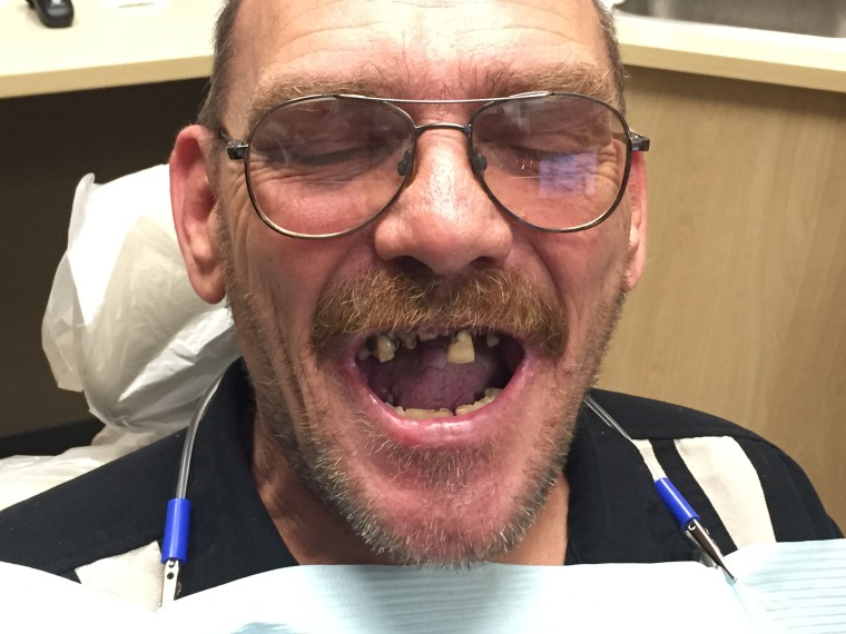 William Bell, who served five tours of duty in Iraq and Afghanistan, needed major dental repair but his local VA told him he wasn't eligible for their care.