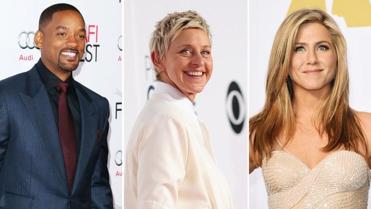 Ellen DeGeneres, Will Smith, Jennifer Aniston