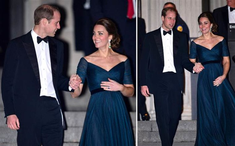 The Duke and Duchess of Cambridge, leaving a gala during their New York visit last year