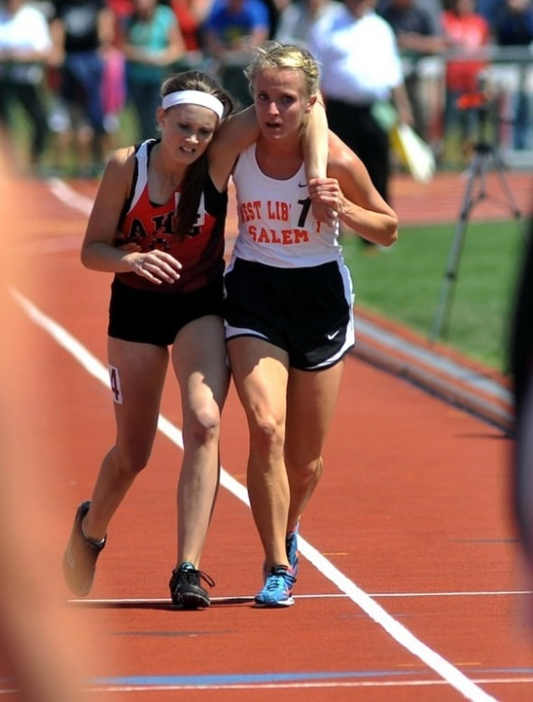 Running toward finish line together