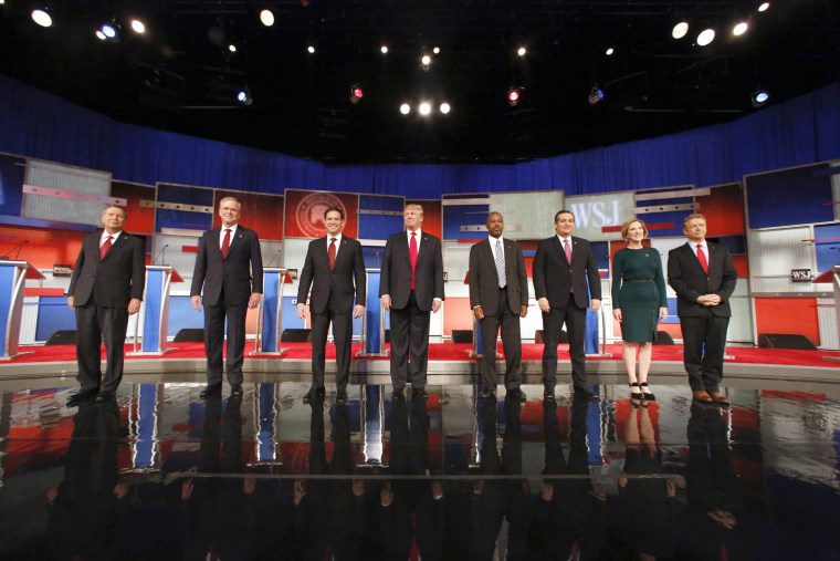 Image: John Kasich, Jeb Bush, Marco Rubio, Donald Trump, Ben Carson, Ted Cruz, Carly Fiorina, Rand Paul