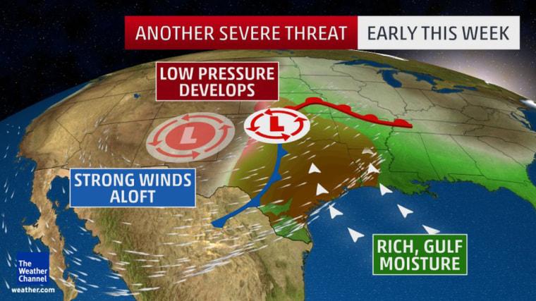 Image: Severe weather setup Monday