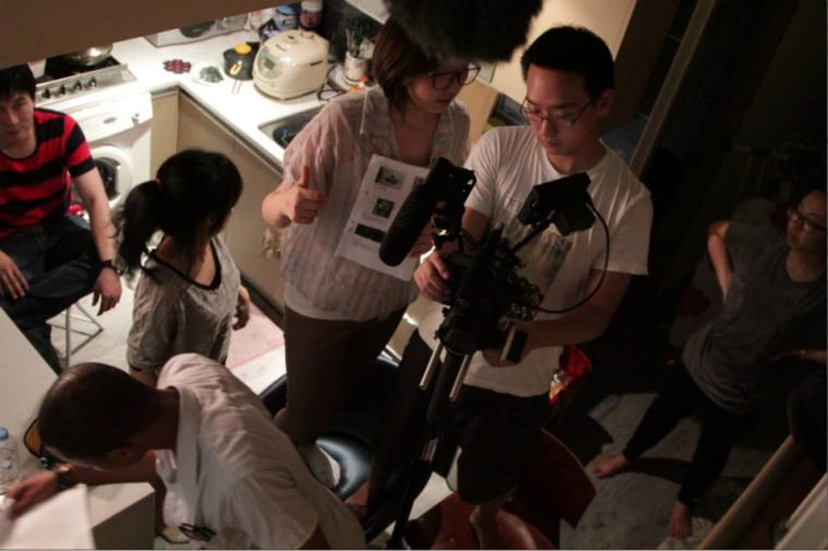 "Behind the scenes of filming ""Kin,"" which made its festival debut in October at the Korean American Film Festival in New York."