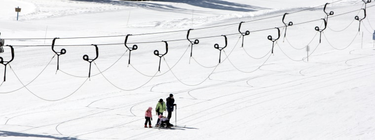 Image: Skiers take the slopes at Alta Ski Resort