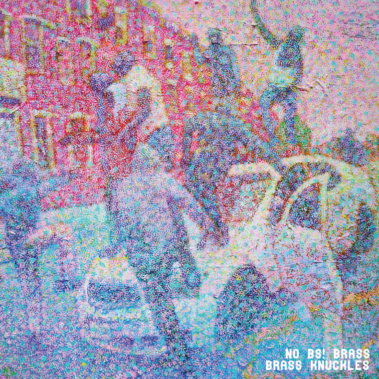 """The album cover of No BS! Brass' new LP """"Brass Knuckles."""" The album is a response to the pervasive police violence and brutality. They want listeners to use this album to lift spirits and to inspire hope."""