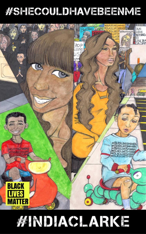 Wriply Marie Bennet for Black Lives Matter, 2015.