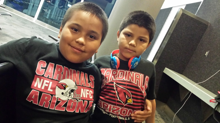 Brothers Juan, left, 12,  and Javier Salas, 7, of Phoenix both carry rare cancer-causing mutations.