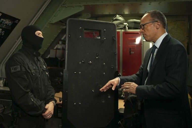 Image: Lester Holt interviews the head of the Bataclan theater raid