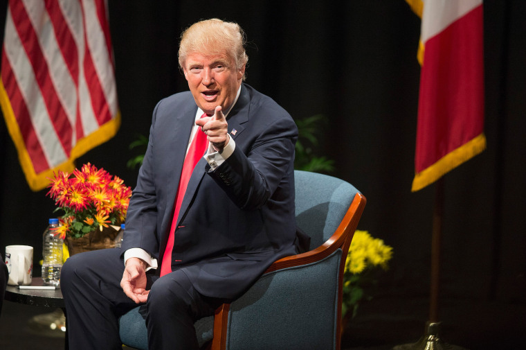 Image: Donald Trump Holds Campaign Town Hall In Iowa