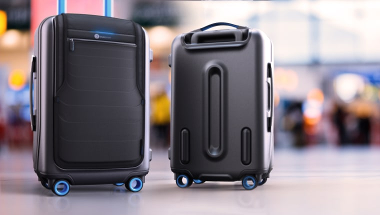 Bluesmart luggage, which has pockets that hold and charge electronic devices and an app with real-time tracking information so you can track the bag if it gets lost.