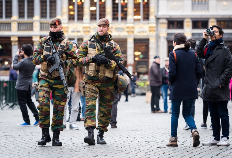 Image: Soldiers in Brussels