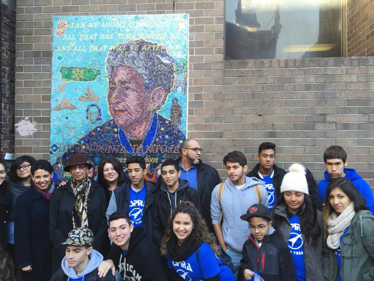 Image: A mural for the late Antonia Pantoja
